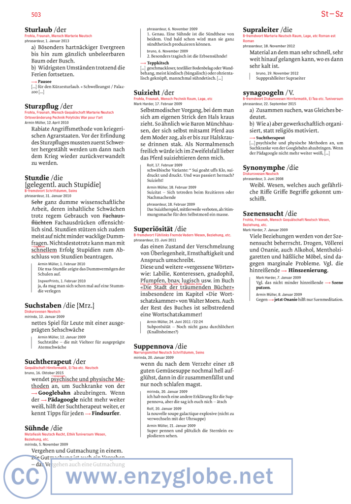S-Sturlaub-bis-Szenensucht-Neologismen und Worterfindungen von enzyglobe.net