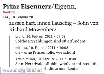 Prinz-Eisennerz  – Worterfindung, Neologismus aus enzyglobe